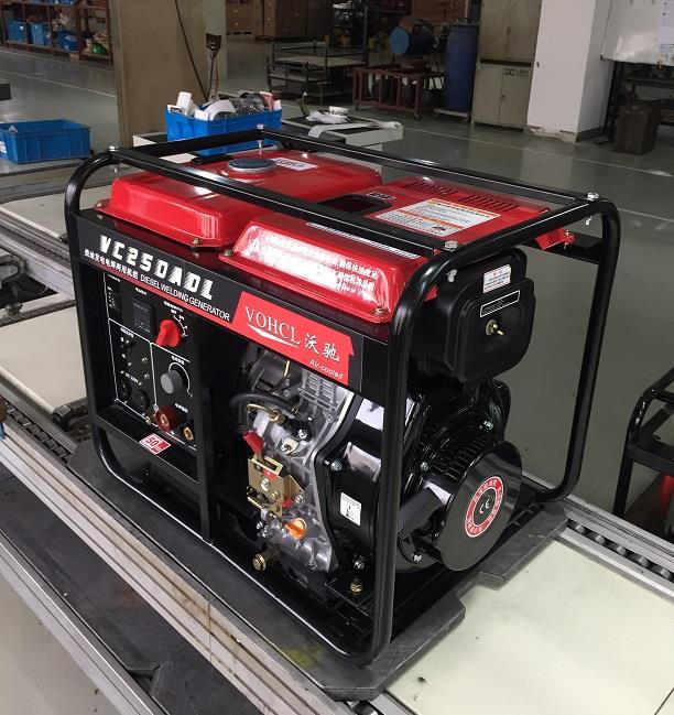 便于移动380V250A柴油发电电焊机