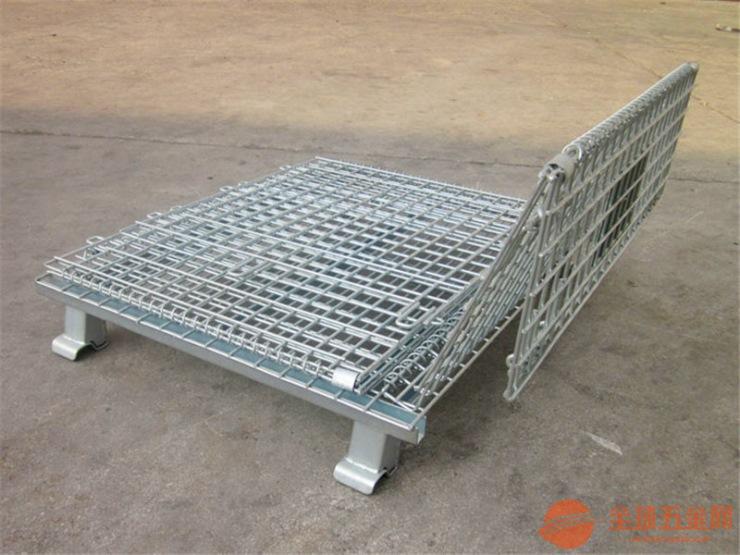 网格式仓储笼,折叠式仓库笼,线径5.0仓储笼