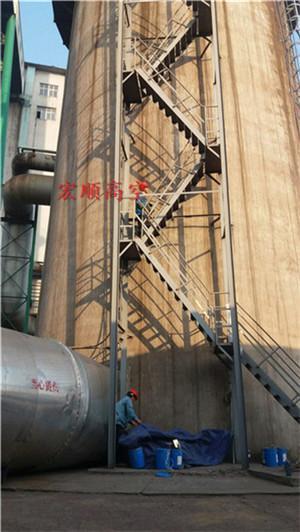 华蓥烟囱安装螺旋爬梯