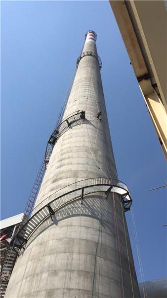 宜宾电厂烟囱安装爬梯欢迎你