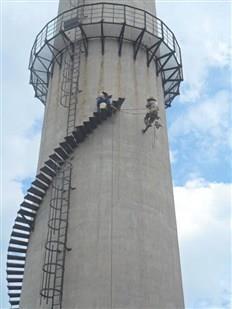 淄博烟囱爬梯检修