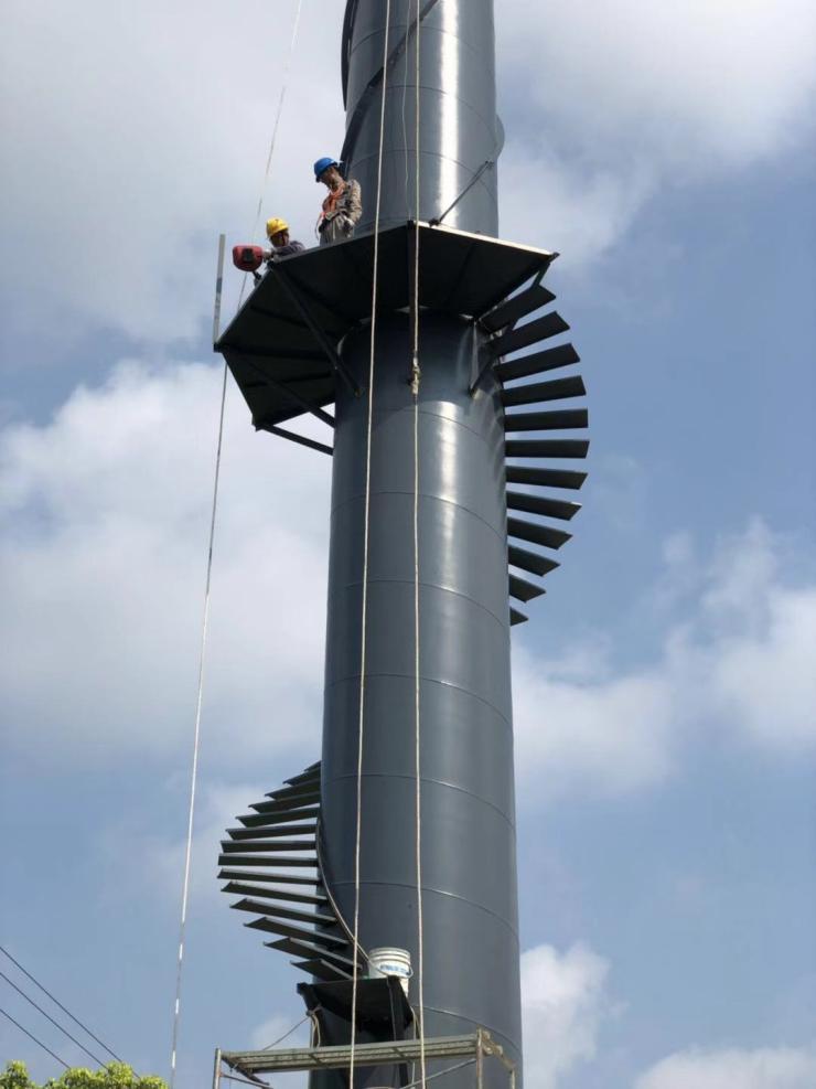 浙江钢烟囱制作安装防腐