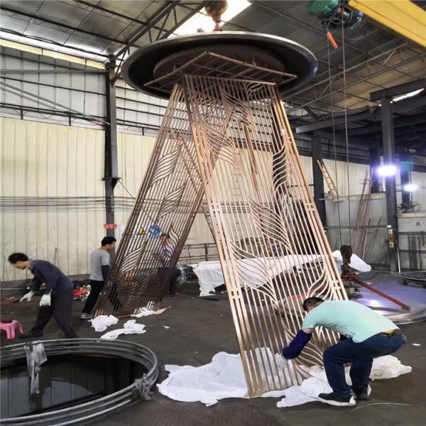 寿阳县镜面钛金不锈钢屏风厂家定制