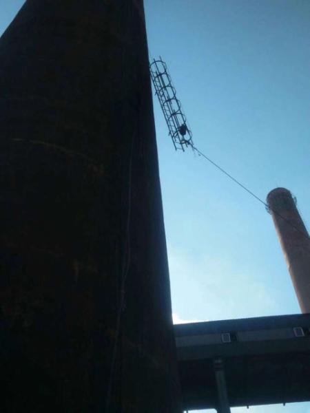 蚌埠烟囱外壁打抱箍加固