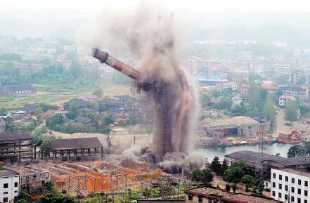 界首化工厂烟囱拆除公司