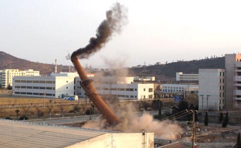 永新县锅炉烟囱拆除公司