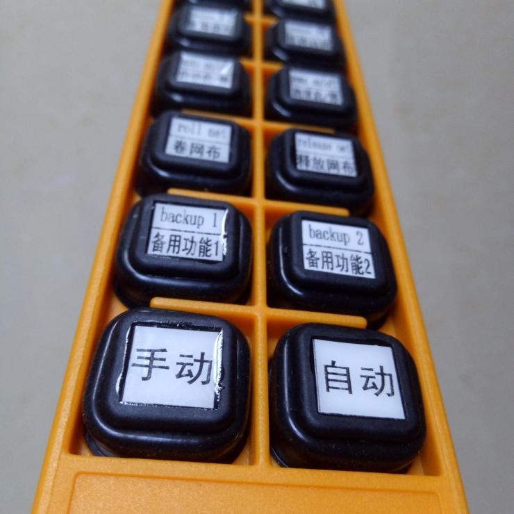 台湾禹鼎F24-12S12键无线遥控器 可以定制按键标识