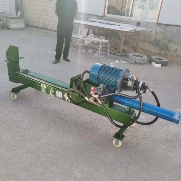 新型电动液压劈柴机 卧式劈材机移动式劈木机
