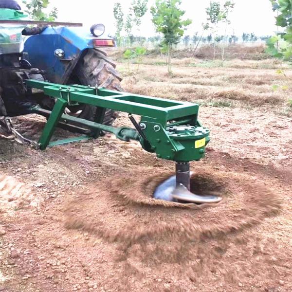 拖拉机带的大直径钻坑机 电线杆水泥杆打洞机