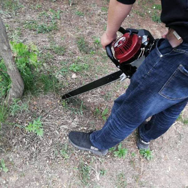 便携式汽油合金链条挖树机 大马力汽油挖树机