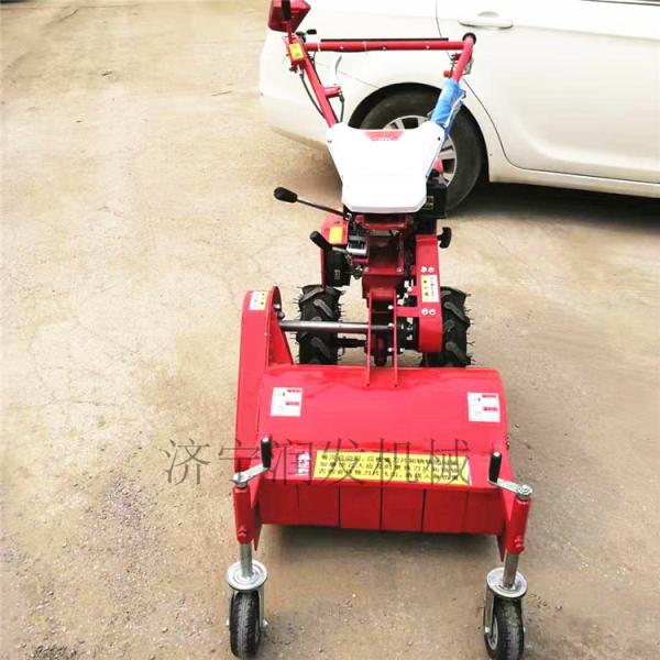 杂草清理汽油碎草机 手推式灭草机 前置碎草还田机