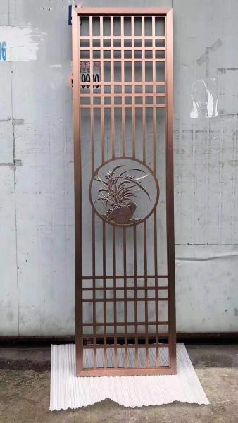 长沙欧式不锈钢屏风设计