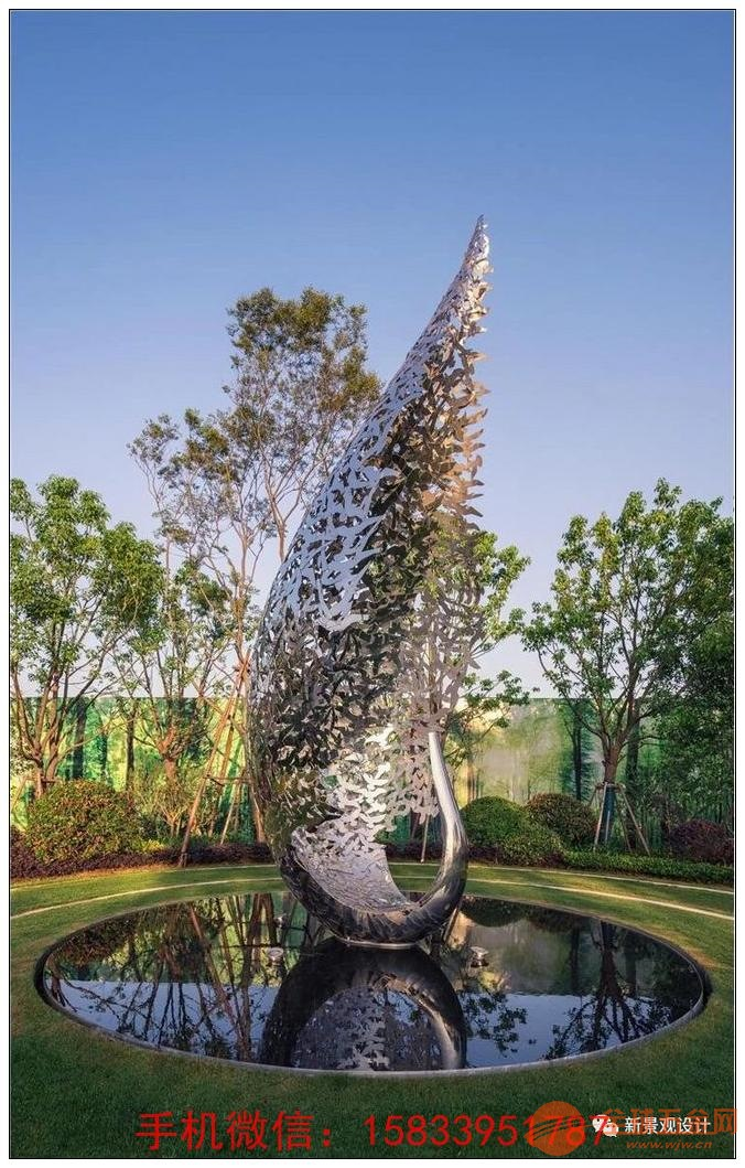 不锈钢天鹅雕塑 动物景观雕塑