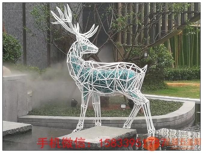 不锈钢字母动物鹿雕塑 性价比高