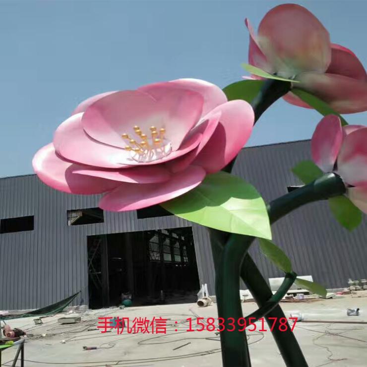 厂家提供仿真鲜艳花朵雕塑 不锈钢花朵雕塑摆件