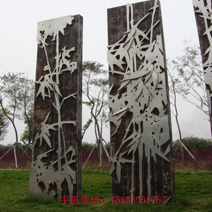 厂家提供不锈钢竹子雕塑 仿真竹子雕塑 竹叶雕塑