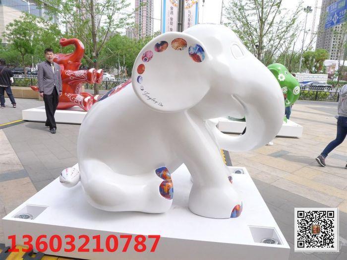 大象玻璃钢雕塑 新乐玻璃钢雕塑生产厂家
