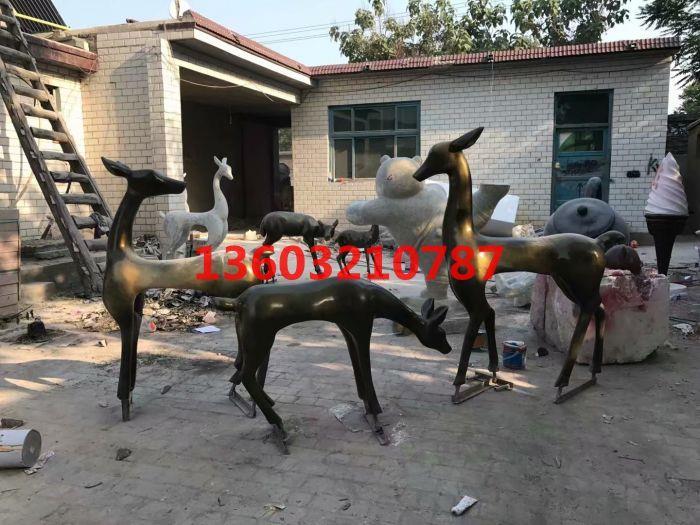 新乐玻璃钢抽象鹿雕塑 草坪摆件 玻璃钢雕塑生产厂家