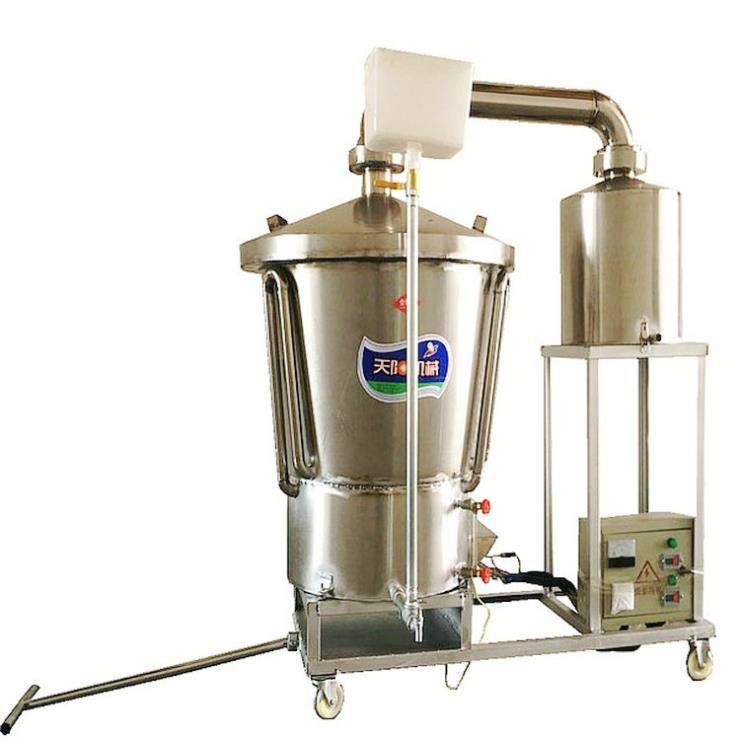 液态生料酿酒机蒸酒设备烤酒工艺