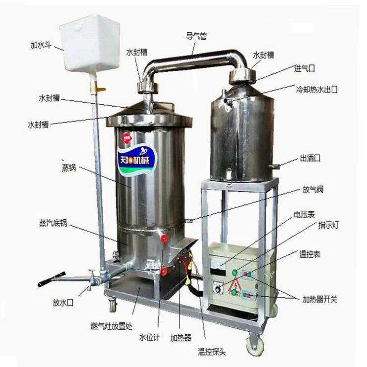 纯粮烧酒机械原浆白酒蒸馏设备