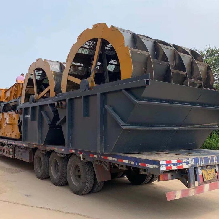 小型洗砂机 芜湖水轮洗沙机青州中拓环保