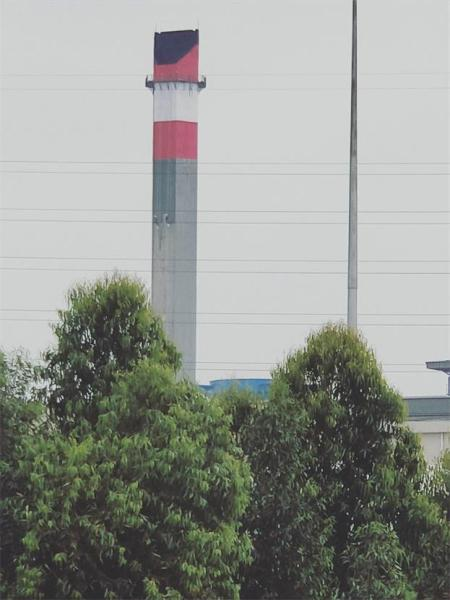 沛县火电厂冷却塔美化