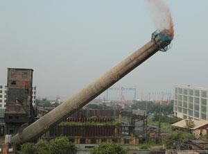 青海海东砖烟囱拆除施工单位