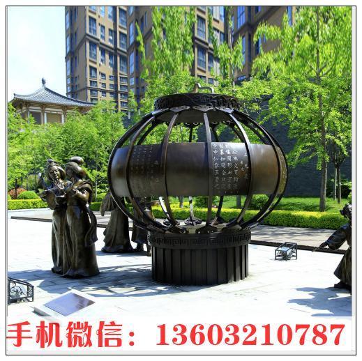 公园铸铜灯笼摆件雕塑