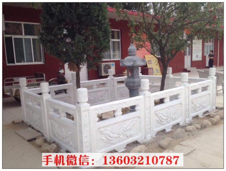荷花石雕栏板 雕刻荷花栏板雕塑