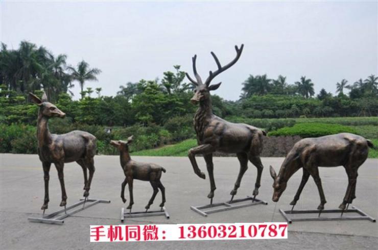 一家铜鹿雕塑 润景雕塑创造辉煌 生产厂家