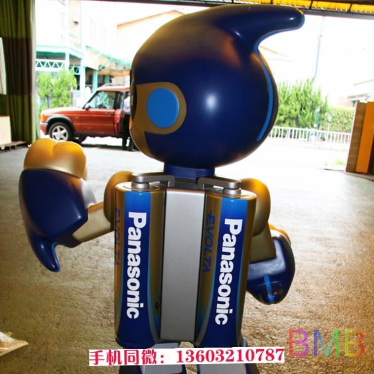 玻璃钢松下电池机器人 新款雕塑大量出售