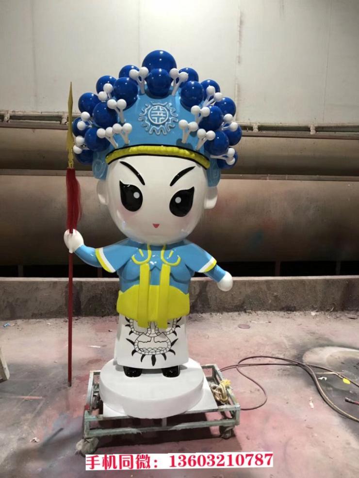 新款戏曲人偶雕塑 玻璃钢人物雕塑制作