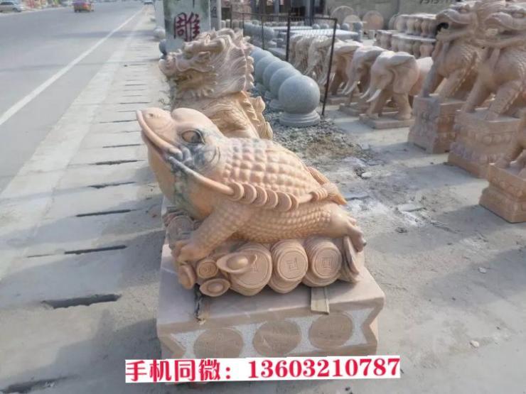 金蟾雕刻雕塑 仿真动物雕塑 石雕厂家