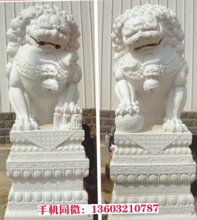 石雕狮子 石雕狮子定制 石雕狮子加工
