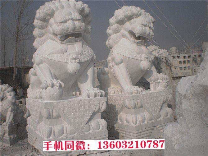 镇宅石狮子雕刻图片大全 动物石雕厂家