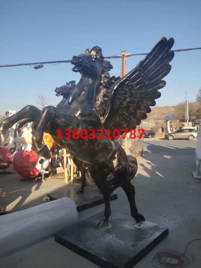 仿铜马园林广场公园雕塑摆件 大型仿真动物雕塑摆件