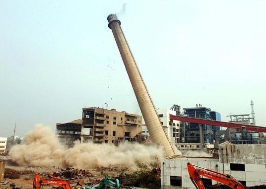 玉林钢筋混凝土烟囱拆除公司