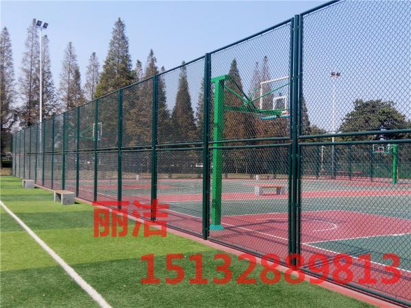 框架式编制网球场围网厂家测量场地