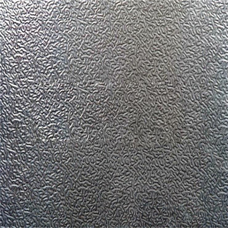 桔皮纹压花铝卷生产厂家