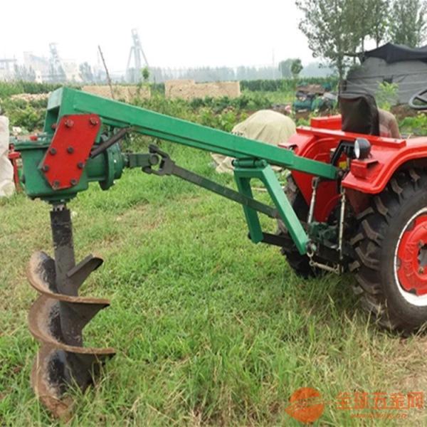 挖坑機園林植樹打孔機四輪帶轉眼機