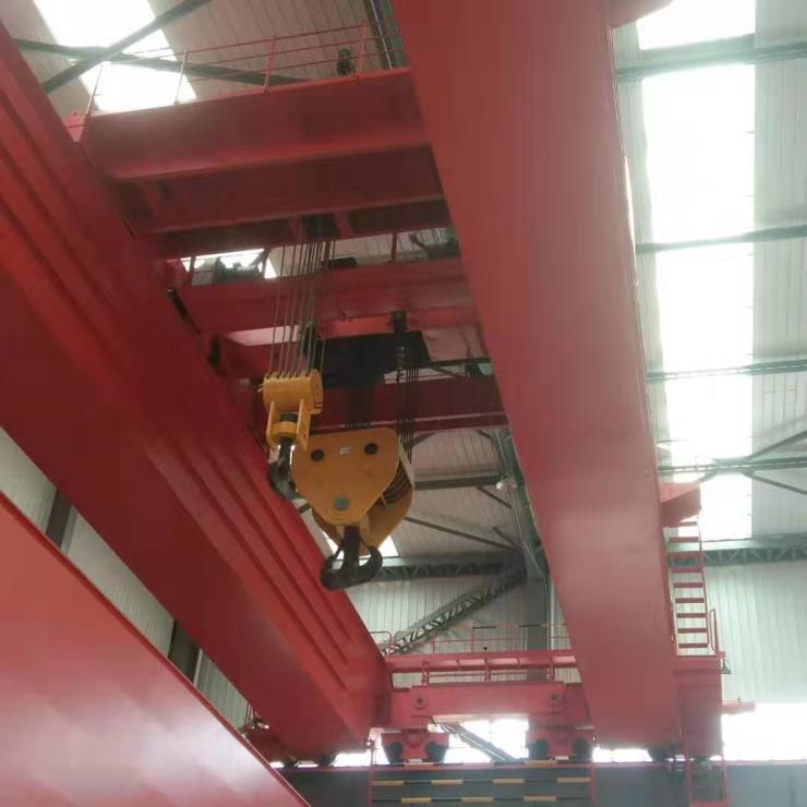 河南矿山10吨跨度22.5米起升9米双梁吊机√塔河县