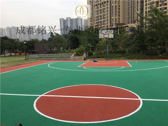 四川成都塑胶篮球场建设