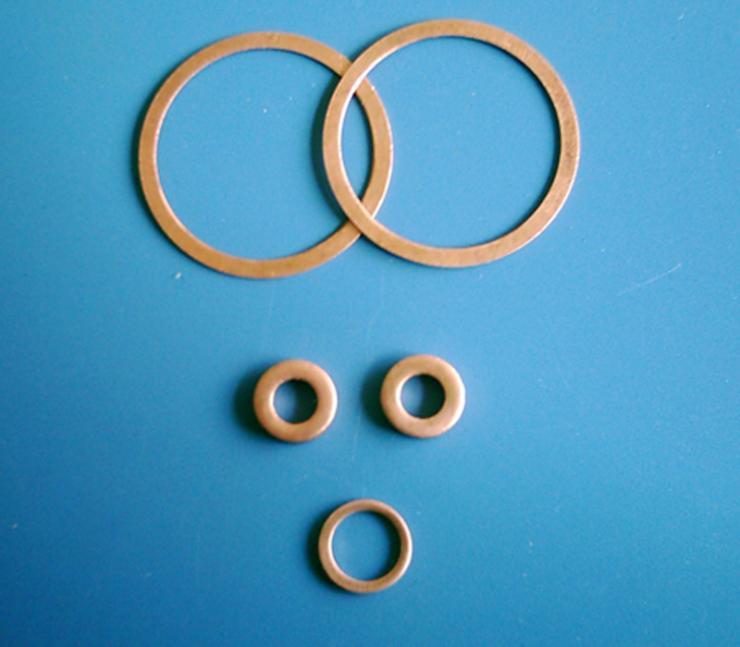 山西长治武乡县加工定做紫铜垫片,紫铜垫片使用温度