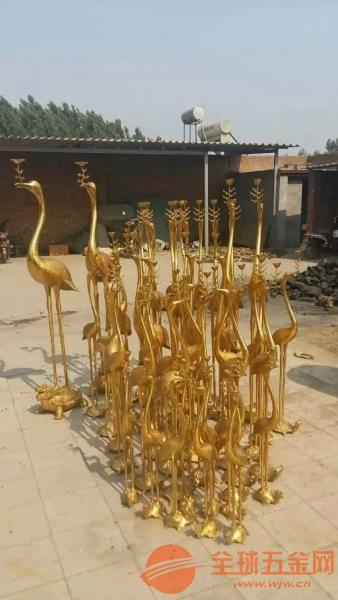 铜雕鹤批发 设计铜雕鹤 铜鹤报价