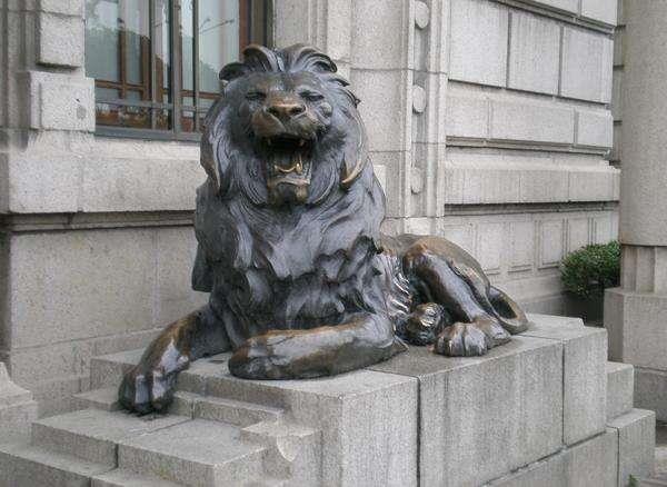 铜雕狮子摆件 风水铜雕狮子 大号铜雕狮子