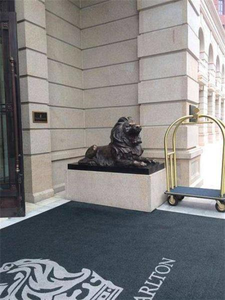 汇丰铸铜狮子 银行门口铜狮子 户外铸铜狮子