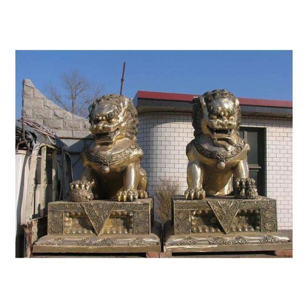 铜狮子摆件 铜狮子制作 门前铜狮子