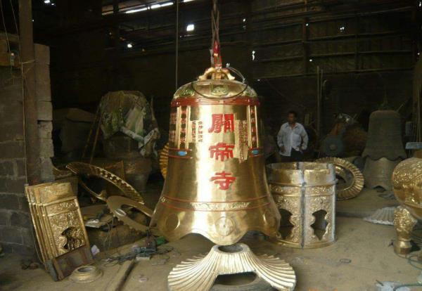 寺庙铜雕钟 校园铜雕钟 3米高铜钟