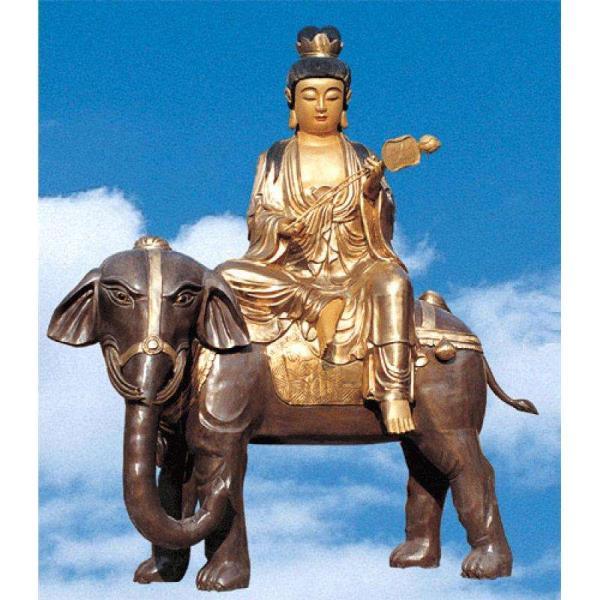 4米高文殊普贤雕塑 坐像文殊普贤雕塑