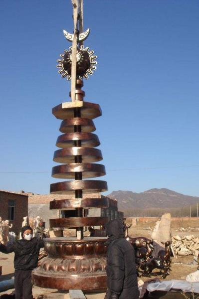 专业铸造铜塔 纯铜塔 镇宅铜塔